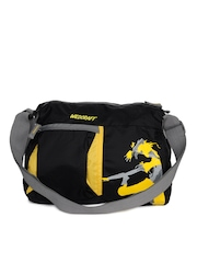 Wildcraft Unisex Graffiti Black & Yellow Sling Bag