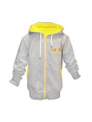 cool quotient Boys Grey Hooded Sweatshirt