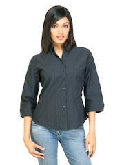 Scullers For Her Women Casual Shirt Black Shirts