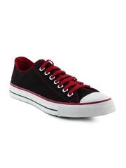 Converse Men Red Lace Black Shoes