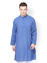 even Men Blue Kurta
