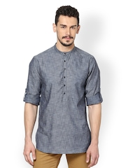 even Men Grey Kurta