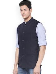 even Men Navy Nehru Jacket