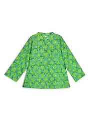 lil posh Boys Turquoise Blue & Green Printed Kurta
