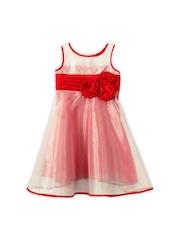 lil posh Girls Red A-line Dress