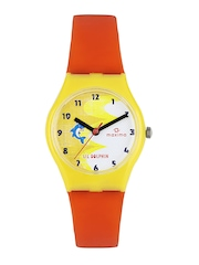 Maxima Kids Yellow & White Dial Watch