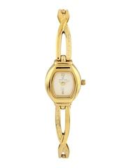 Maxima Women White Dial Watch