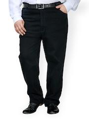 plusS Men Black Jeans
