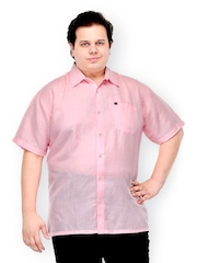 plusS Men Pink Casual Shirt