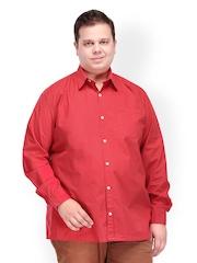 plusS Men Red Casual Shirt