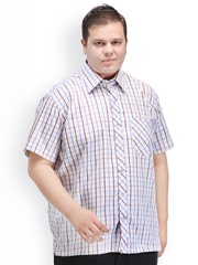 plusS Men Multicoloured Checked Shirt