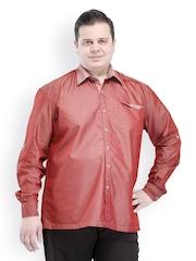 PlusS Men Maroon Casual Shirt