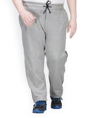 plusS Men Grey Track Pants