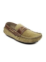 tZaro Men Green Loafers