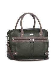 Yelloe Men Olive Green Laptop Bag