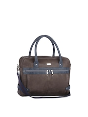 Yelloe Men Brown Laptop Bag