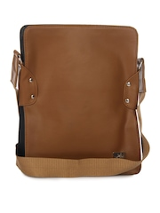 Yelloe Men Tan Brown Messenger Bag