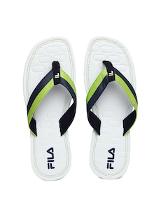 FILA Men White Brick N Break Flip Flops