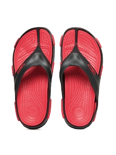 FILA Men Black & Red Comfort Lite Flip Flops