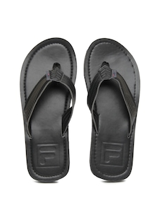 Fila Men Black Burnish Flip Flops