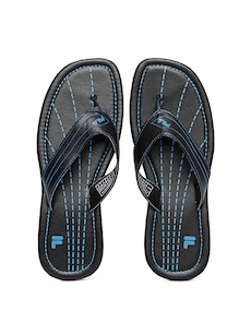 Fila Men Black Stitch On Flip Flops