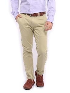 Mast & Habour Men Beige Smart-Casual Trousers