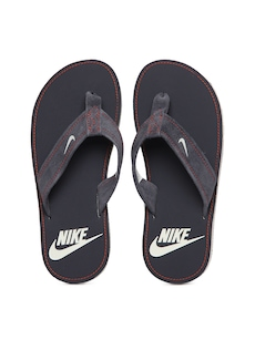 Nike Men Grey Stalley Thong Flip Flops