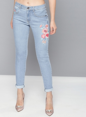 Blue High-Rise Jeans
