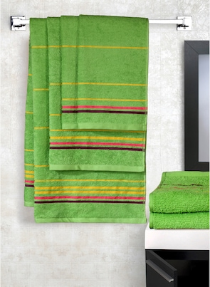 Trident Set of 6 Green Towel Packs Towel Set