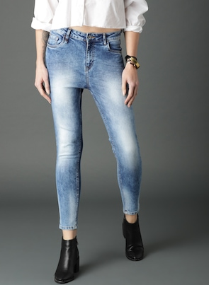 Blue Skinny Fit High-Rise Clean Look Jeans