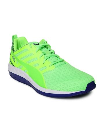 PUMA Men Neon Green Flare Q2 Running Shoes