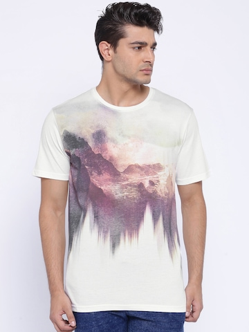 ONLY & SONS Men White Printed T-Shirt