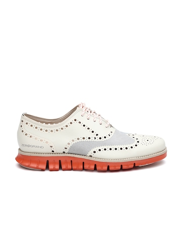 buy cole haan beige zerogrand leather casual shoes
