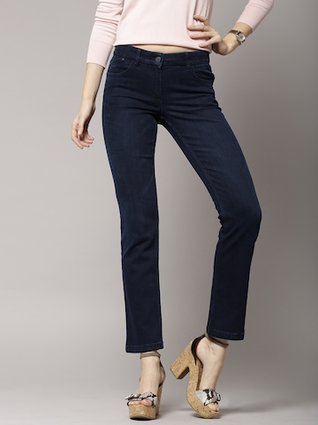 Buy Marks Amp Spencer Navy Straight Fit Jeans Jeans For