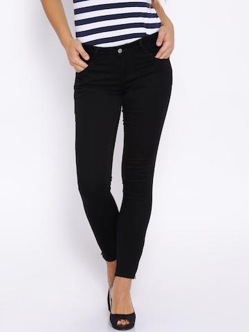 Buy Kraus Jeans Black Mid Rise Ankle Length Skinny K3024 ...