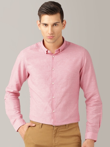 Buy Ether PINK ANTI MICROBIAL COTTON LINEN SHIRT - Shirts for Men ...
