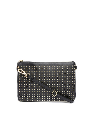 Buy Covo Black Studded Sling Bag - Handbags for Women | Myntra