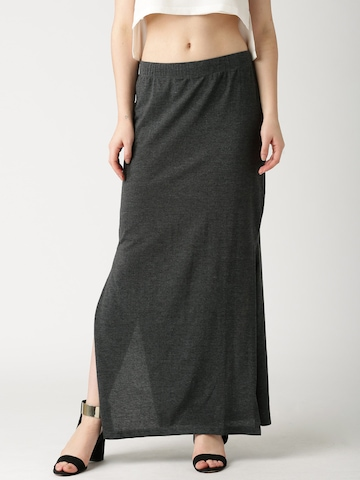 buy dressberry charcoal grey maxi skirt skirts for