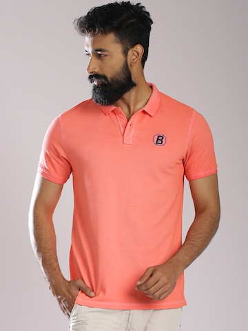 Buy breakbounce peach coloured street cool polo t shirt for Cool polo t shirts