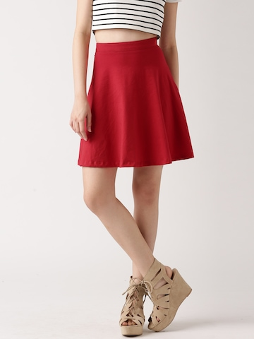 Buy DressBerry Red A Line Skirt - Skirts for Women | Myntra