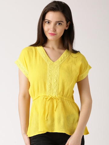 Buy Dressberry Yellow Top Apparel For Women 1265627