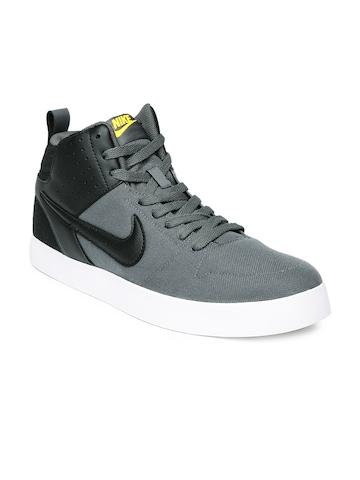 buy nike men black  grey liteforce iii mid nsw sneakers