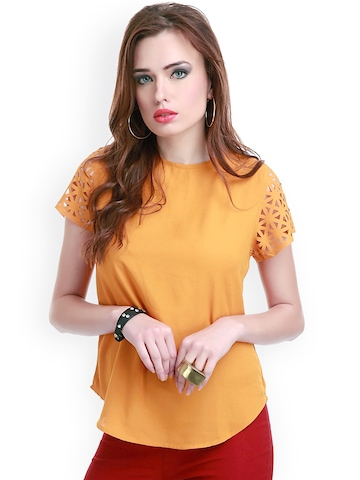 Buy Sassafras Mustard Yellow Top Tops For Women Myntra