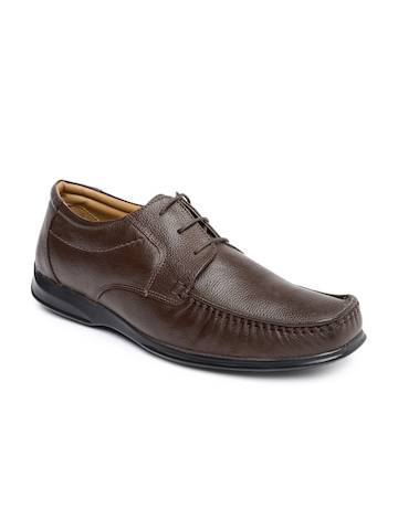 buy bata brown genuine leather formal shoes