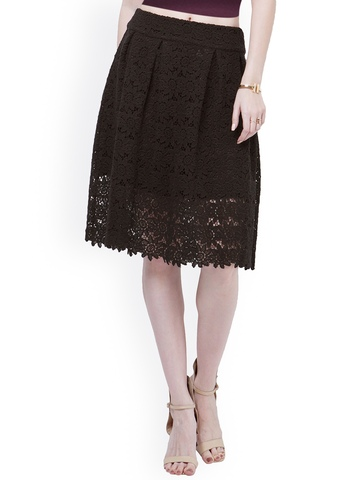 black lace a line skirt redskirtz