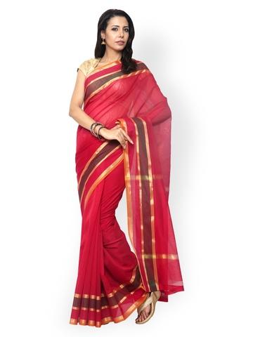 Buy Varkala Silk Sarees Blue Banarasi Cotton & Silk Traditional Saree ...