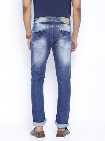 Buy SPYKAR Blue Washed Low Waist Rafter Bootcut Jeans - Jeans for ...