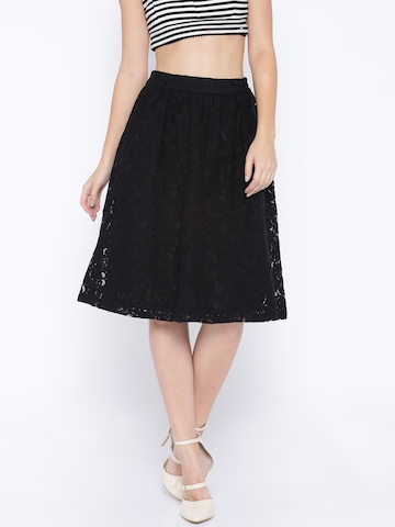 Buy ONLY Black Lace A Line Skirt - Skirts for Women | Myntra