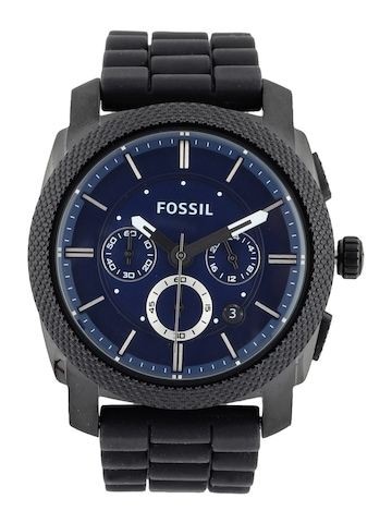 Fossil Men Blue Dial Analog Chronograph Watch FS4605