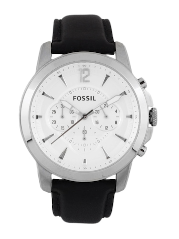 Fossil Men White Dial Chronograph Watch FS4647